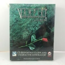 NEW White Wolf Vampire Masquerade CD-ROM Reference Guide & Character Generator