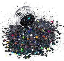 Xmas Christmas Mix Nail Art Glitter Chunky Body Face Polish Holographic Black