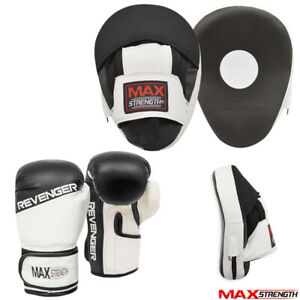 MMA Curved Boxing Focus Pad Set Hook and Jab Punch Training Sparring Bag Gloves