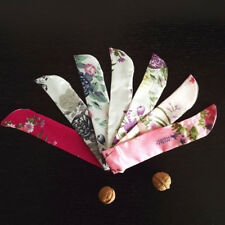 Chinese Floral Printed Hand Fan Folding Fan Bag Holder Protector Pouch Non-Woven
