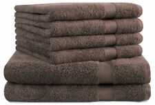 Betz 6-tlg.Handtuchset PREMIUM nussbraun Qualität 470 g/m² 2 Duschtücher