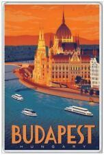 BUDAPEST - JUMBO FRIDGE MAGNET - HUNGARY BUDA PEST RIVER DANUBE EUROPE HUNGARIAN