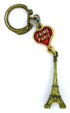 ANCIEN PORTE CLES - OLD KEYCHAIN TOURISTIQUE J'AIME PARIS - TOUR EIFFEL