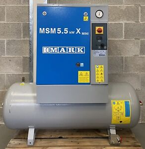 Mark MSM5.5 Receiver Mounted Rotary Screw Compressor, 5.5Kw, 7.5Hp, 21.2cfm!