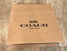 "New Coach Gift Box 6.5"" X 4.5 X 2"" Small Brown Box"