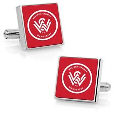A-League Western Sydney Wanderers Cufflinks Stainless Steel Etched Free Shipping