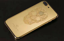 24K Gold Plated Skull Limited Edition Back Housing Mid Frame For iPhone 7 Plus