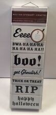 New Martha Stewart Crafts 7 Spooky Phrase Wood Rubber Halloween Stamps - Boo!