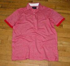 New BOGGI Milano Mens Short Sleeve Red Cotton/Linen Polo Shirt ITALY-L Nice!
