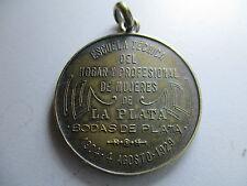 MEDALLA ARGENTINA LA PLATA 1929 ESCUELA TECNICA D HOGAR Y PROFESIONAL DE MUJERES