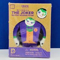 The Joker painted wooden figure dc comics loot crate exclusive nib batman sealed