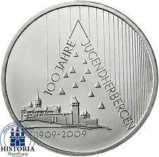 Deutschland 10 Euro Silber 2009 bfr Deutsches Jugendherbergswerk in Münzkapsel