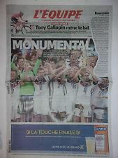L'EQUIPE 14 JUILLET 2014 WORLD CUP BRASIL /// ALLEMAGNE CHAMPION DU MONDE