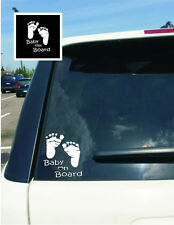 "DIY Feet Decal ""Baby On Board"" Children Safety Sign For Car Window Sticker Craft"