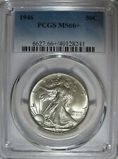 PCGS MS66+ 1946 Walking Liberty Half Dollar. Original Specimen. Amazing Luster!