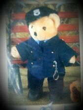 """Treasured Toggery """"Police Chief Blues"""" 12"""" Bear / Doll 11 piece Outfit Nb"""