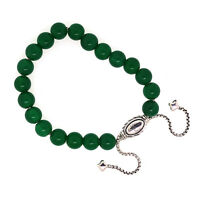 David Yurman 925 Sterling Silver 8mm Green Onyx Spiritual Beads Bracelet