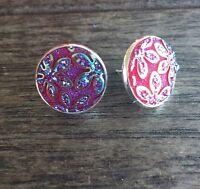 Spike earrings sparkle glitter bling drag funky punk black silver aqua pink