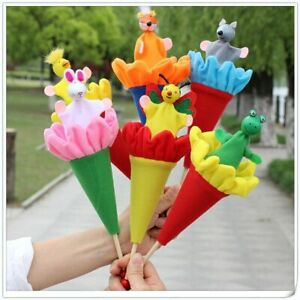 Retractable Pop Up Cute Colourful Animal Puppets