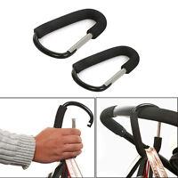 Aluminium Trolley Pram Hook Baby Pushchair Stroller Hooks Shopping Bag Clip S L