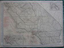 1922 LARGE AMERICA MAP ~ CALIFORNIA LOS ANGELES SAN DIEGO ~ RAND MCNALLY