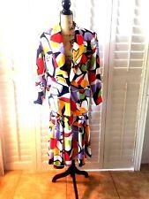 COUNTER PARTS PETITES Skirt Blazer Set Bright Multi Color Size 10 NWT