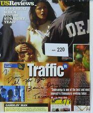Sexy Benicio Del Toro Original Autographed TRAFFIC Ad, Magazine Page, Aug 2001