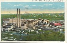Sioux Falls SD John Morrell & Co. Packing Plant Postcard 1932