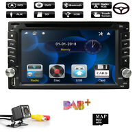 "6.2"" HD Car GPS Nav Double 2Din Stereo Radio DVD MP3 Player Bluetooth TV +Camera"