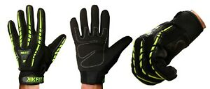 Leather Wheelchair Gloves Full Finger High Visibility Bus Driving Bike Thermal
