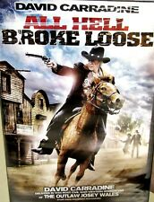 All Hell Broke Loose NEW! DVD, David Carradine,Outlaw Josey Wales,Western