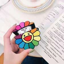 3D Smile Sun Flower Headset Airpods Charge Case Cover Skin For Airpod + Ring