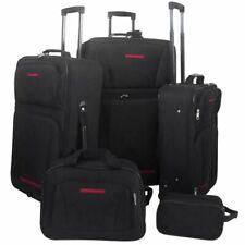 vidaXL Reisbagageset Zwart 5-delig Reis Bagage Tas Koffer Trolley Vakantie