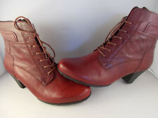Gabor Tucson Dark Red Leather Ankle Boots 35.644.55 Women's Sz 7.5 US New In Box
