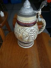 """Avon Collectible Stein """"Big Ships"""" 1977 handcrafted in Brazil"""