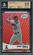 2011 Mike Trout eTopps Refractor Like RC BGS 9.5 3 x 9.5s 10... #339 of 999 made
