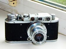RARE FED-1 Soviet Rangefinder Film Camera copy Leica ws lens INDUSTAR-22 AS IS