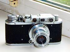 RARE FED-1 Soviet Rangefinder Film Camera copy Leica ws lens INDUSTAR-22 AS IS