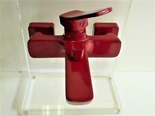 Wannenarmatur Rot (RAL 3003), Wannenbatterie, Einhebelmischer, Stilo