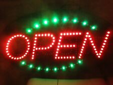 """""""Open - Closed"""" Oval Electric 27""""x15"""" Plastic Sign in good used working shape Nr"""