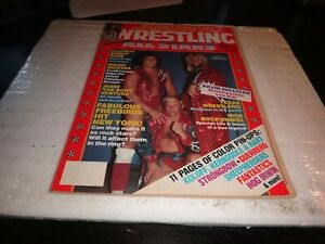 Wrestling all stars magazine december 1984 no 8 freebirds colour pin up + wwe