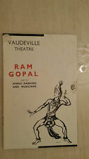 1939:VAUDEVILLE THEATRE - Ram Gopal and his Indian Dancers and Musicians