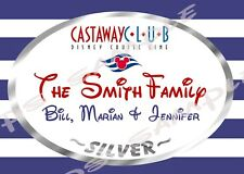 4x6 Disney Cruise CUSTOM Door Magnet - CASTAWAY CLUB, SILVER or GOLD or PLATINUM