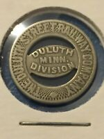 Token Duluth Street Railway Company Minn. Token Coin Tokens Collectable P16