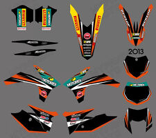 GRAPHICS BACKGROUNDS FOR KTM 125/200/250/300/350/450/500 EXC 2012 13 XC 2011