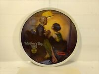 Edwin M Knowles Norman Rockwell Mother's Day 1981 After The Party Plate pl468
