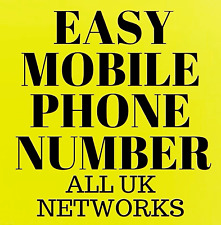EASY MOBILE PHONE NUMBERS O2 VODAFONE EE THREE LEBARA PAY AS YOU GO SIM CARDS