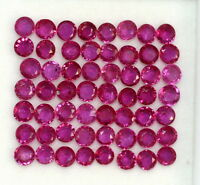 1.16 CTS Natural Ruby Round Cut 2.25 mm Lot 20 Pcs Red Pink Shade Loose Gemstone