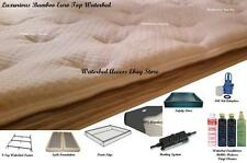 SOFTSIDE WATERBED with Bamboo Euro Top Mattress & 90% Waveless /Full Double