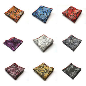 Men Classic Paisley Flower Handkerchief Wedding Party Pocket Square Hanky Lot
